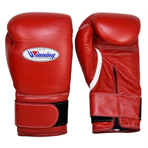 Winning Velcro Boxing Gloves - Red